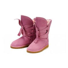 plan ahead for winter: Ugg Roxy Short Boots In Pink $131.99