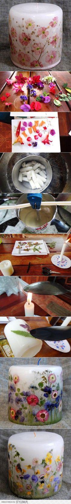 DIY Projekty DIY Candle Flower | UsefulDIY.com na Stylowi.pl