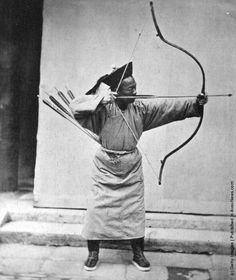 1871: A Manchu soldier with his bow and arrow