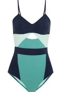 Flagpole | Joellen cutout color-block swimsuit | NET-A-PORTER.COM