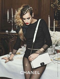 Alice Dellal - chanel bag