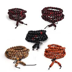 multilayer Wood Beads bracelet 108 Tibetan Buddhist Prayer Bracelet for Men ** Click for Special Deals #BuddhistPrayer Bracelets For Men, Beaded Bracelets, Buddhist Prayer, Special Deals, Crochet Earrings, Prayers, Beads, Wood, Jewelry