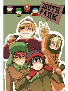 ::South Park:: by Damleg on DeviantArt Anime Chibi, Cartoon As Anime, Me Anime, Anime Art, South Park Anime, South Park Fanart, South Park Characters, Fictional Characters, Cartoon Characters