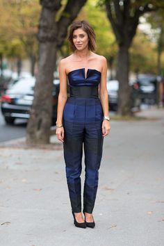 Street Style: Paris Fashion Week Spring 2014 - Stella McCartney jumpsuit