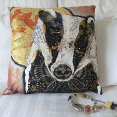 Badger & Moon Cushion from designer Dawn Maciocia. Check out her Create.net website for more lovely handmade products.