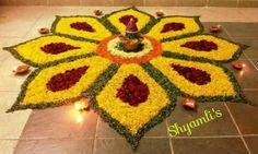 Diwali Flower Rangoli Designs 2017