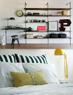 I really like these shelves. Maybe I can talk to hubby about us doing these in the living room...