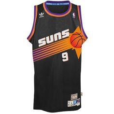 Dan Majerle Phoenix Suns Swingman Hardwood Classics Throwback Black Jersey  by adidas Best Nba Jerseys 3e8cf4288
