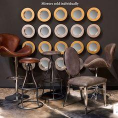 Corona Round Accent Wall Mirror