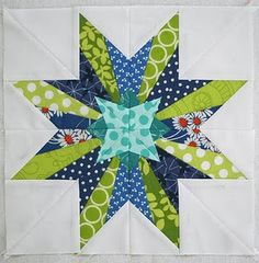 "stunning star .... made using "" 50 Fabulous Paper-Pieced Stars "" book"