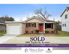 SOLD! 1601 Taylor St, Kenner, LA 70062 - $72,100 - 2bed/1bath Single Family Home - New Orleans Area Real Estate - http://www.thenolagal.com