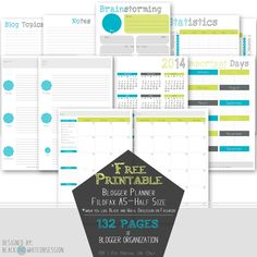Free Printable Blogger Planner | Half-Size (Filofax A5) - In order to avoid turning into the