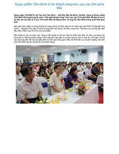 Duoc pham tam binh tri an khach hang khu vuc cac tinh phia bac  by Dược Phẩm Tâm Bình   http://tambinh.vn/duoc-pham-tam-binh-tri-an-khach-hang-khu-vuc-cac-tinh-phia-bac_918.html