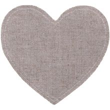 "Maya Road Linen Embellishment Pieces 3/Pkg-Hearts 4.5"" X 4.5"" (ln2205)"