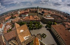 Birds eye view of Sibiu. by Adrian Crapciu - Summer in Romania Photo Contest Visit Romania, Travel Magazines, Medieval Town, Bucharest, Birds Eye View, Aerial View, Photo Contest, Beautiful World, Adventure Travel