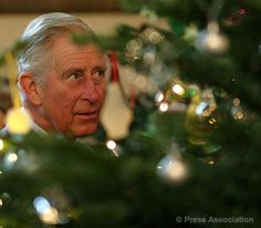 The Prince of Wales visits The Christmas Tree Festival at St Paul's Church in Bedford, 3 December 2013.