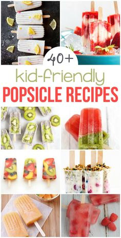 Popsicles for Kids | These delicous popsicle recipes are exactly what kids need to cool off this summer. Find everything from creamy popsicles, chocolate popsicles, fruit-filled popsicles, and even breakfast popsicles! Enjoy all the flavors of popsicles that no kid can resist!