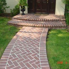 Herringbone Brick walkways and stairs Saratoga - Yelp