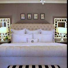 26 Best mirrors behind lamps images | Bed room, Bedroom decor, Bedrooms