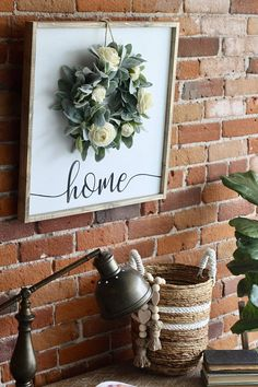We are excited to be collaborating with Sanity Crafts Boutique to bring you this limited edition farmhouse sign and wreath set. Each sign has home beautifully hand painted across the bottom and is finished with one of our signature wreaths. These signs will look beautiful above a