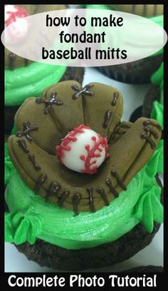 How to make Fondant Baseball Mitts and other great tutorials here.