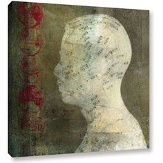 Elena Ray Acupuncture Gallery-Wrapped Canvas, Size: 36 x 36, Red