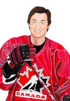 Saint Gretzky in Hockey Top.