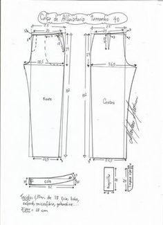 Patrón Pantalón de sastre de mujer - Patrones gratis Dress Sewing Patterns, Clothing Patterns, Thai Fisherman Pants, Sewing Collars, Sewing Pants, Pattern Drafting, Pants Pattern, Fashion Sewing, Sewing Techniques