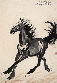 Master Xu Beihong - Asian Brush Painting - Horse