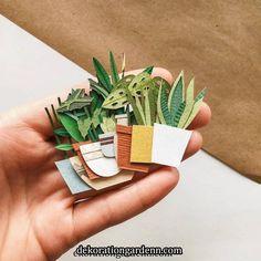 Diy Paper Plants Flower Tutorial 23 New Ideas Cute Crafts, Creative Crafts, Diy And Crafts, Crafts For Kids, Arts And Crafts, Origami, Paper Plants, Paper Cactus, Cactus Craft