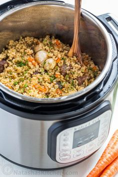 Making beef plov in an instant pot is so quick and easy and using brown rice is genius. This Instant Pot Rice recipe is a healthier, juicier and flavor packed version of beef plov. Rice Recipes, Casserole Recipes, Crockpot Recipes, Chicken Recipes, Cooking Recipes, Recipies, Ip Chicken, Chicken Penne, Cheesy Chicken