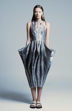 Sculptural Fashion - dress with 3D panels; innovative pattern cutting; creative fashion // Julia Frew
