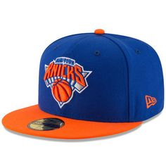 sale retailer 788d3 37a03 New York Knicks New Era Official Team Color 2Tone 59FIFTY Fitted Hat -  Royal Orange