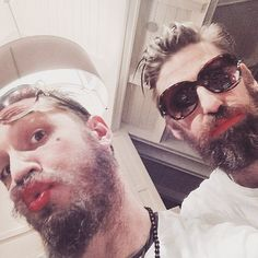 Tom Hardy and Paul Anderson - Canada , Feb. 2015
