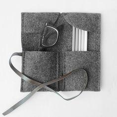 3 colors Pencil Case/ Make Up Bag/ Pencil Roll/ Art Wrap