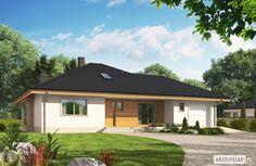 Projekt domu Flori III G1 ECONOMIC (wersja A) - wizualizacja frontowa