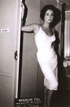 Elizabeth Taylor, wardrobe test for Butterfield 8.