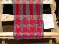 KNITTING AND WEAVING TIDBITS!: Rigid Heddle Weaving - Woven Pinwheel Winter Scarf