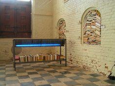 Installatie 'Als woorden verworden........'  in De Vleeshal te Middelburg