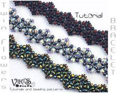 Twin Flowers Bracelet Tutorial with Twin beads: Twin Flowers ( INSTANT DOWNLOAD PDF). $5.50, via Etsy.