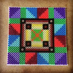 Tile square perler beads by capriciousarts
