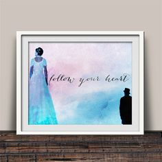 Follow Your Heart - Designer art print proudly made in America! Now on sale on Etsy.