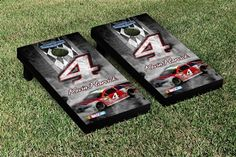 Kevin Harvick #4 NASCAR Cornhole Game Set Pit Row Version from TailgateGiant.com