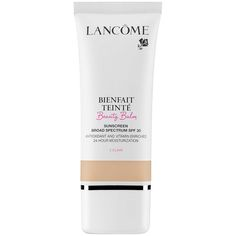 Lancôme Bienfait Teinté Beauty Balm Sunscreen Broad Spectrum SPF 30, $47, available at Sephora: Formulated with antioxidants and nourishing vitamins E, B5, and CG (a synthetic form of vitamin C that stimulates collagen), this one is BB cream you can feel very good about wearing..
