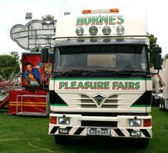 FODEN - Horne's Fun Fair, New Career, Britain, Transportation, Trucks, Vehicles, Mickey Mouse, 1950s, Paradise