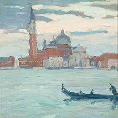 """""""San Giorgio, Venice,"""" Jane Peterson, oil on board, 17 x 17"""", private collection."""