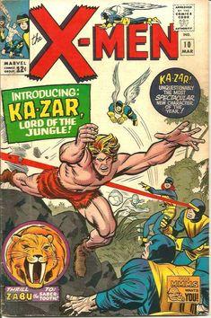 X-men Marvel Ka-Zar & Zabu 1965 Series & Print Jack Kirby & Stan Lee vintagebookcovers Marvel Comic Character, Marvel Comic Books, Vintage Book Covers, Comic Book Covers, Tarzan, Jack Kirby Art, Man Thing Marvel, Stan Lee, Comic Artist
