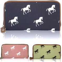 Large #canvas horse ladies wallet zip up #girls money coin cards women #purses ne,  View more on the LINK: 	http://www.zeppy.io/product/gb/2/302102796127/