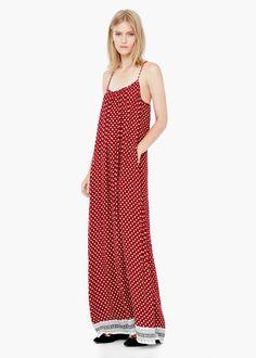 Vestido largo flores - Vestidos de Mujer | MANGO