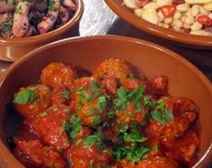 Spanish meatballs with chorizo